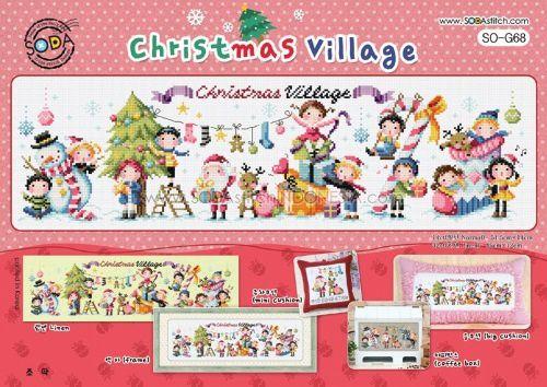 &quot&#x3B;Christmas village&quot&#x3B; de SODAstich #1