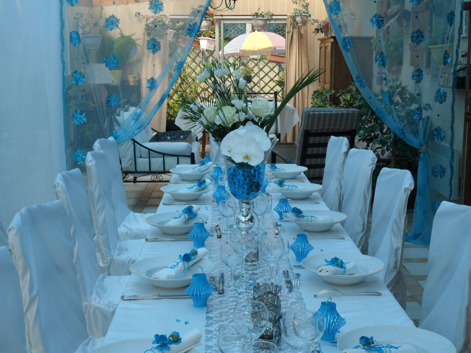 Déco de table turquoise - AnnMari\'magine