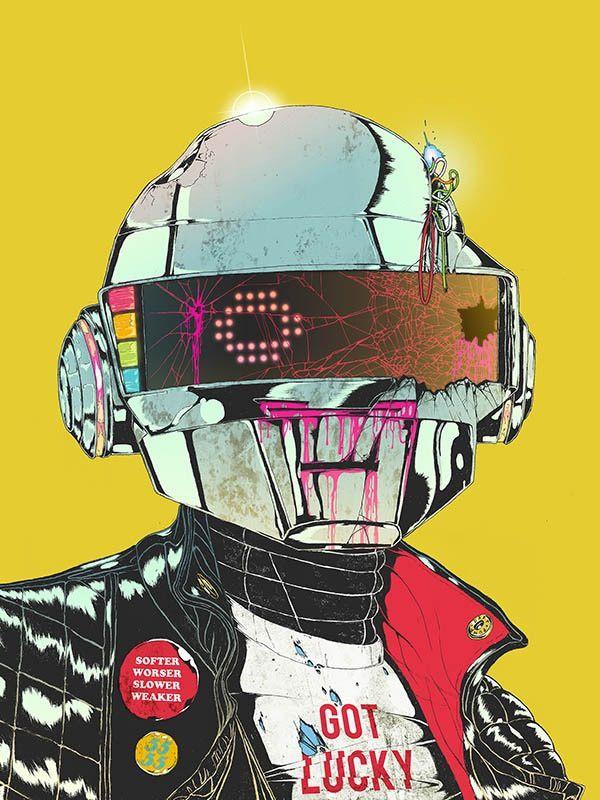 Des artistes rendent hommage aux Daft Punk avec de magnifiques illustrations