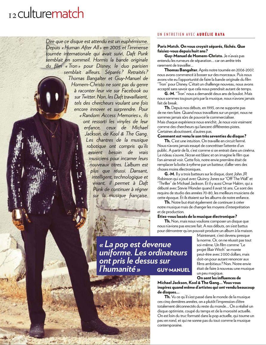 Daft Punk dans Paris Match