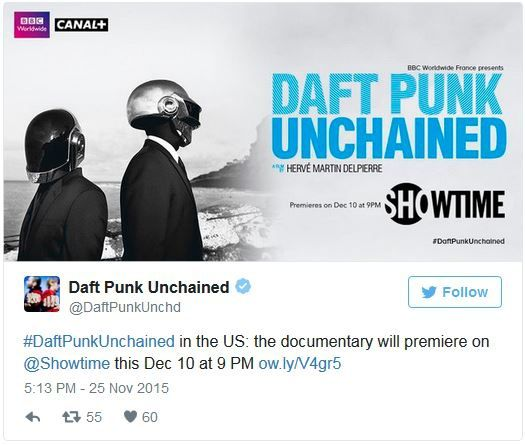 New Daft Punk Documentary Coming to Showtime Next Month