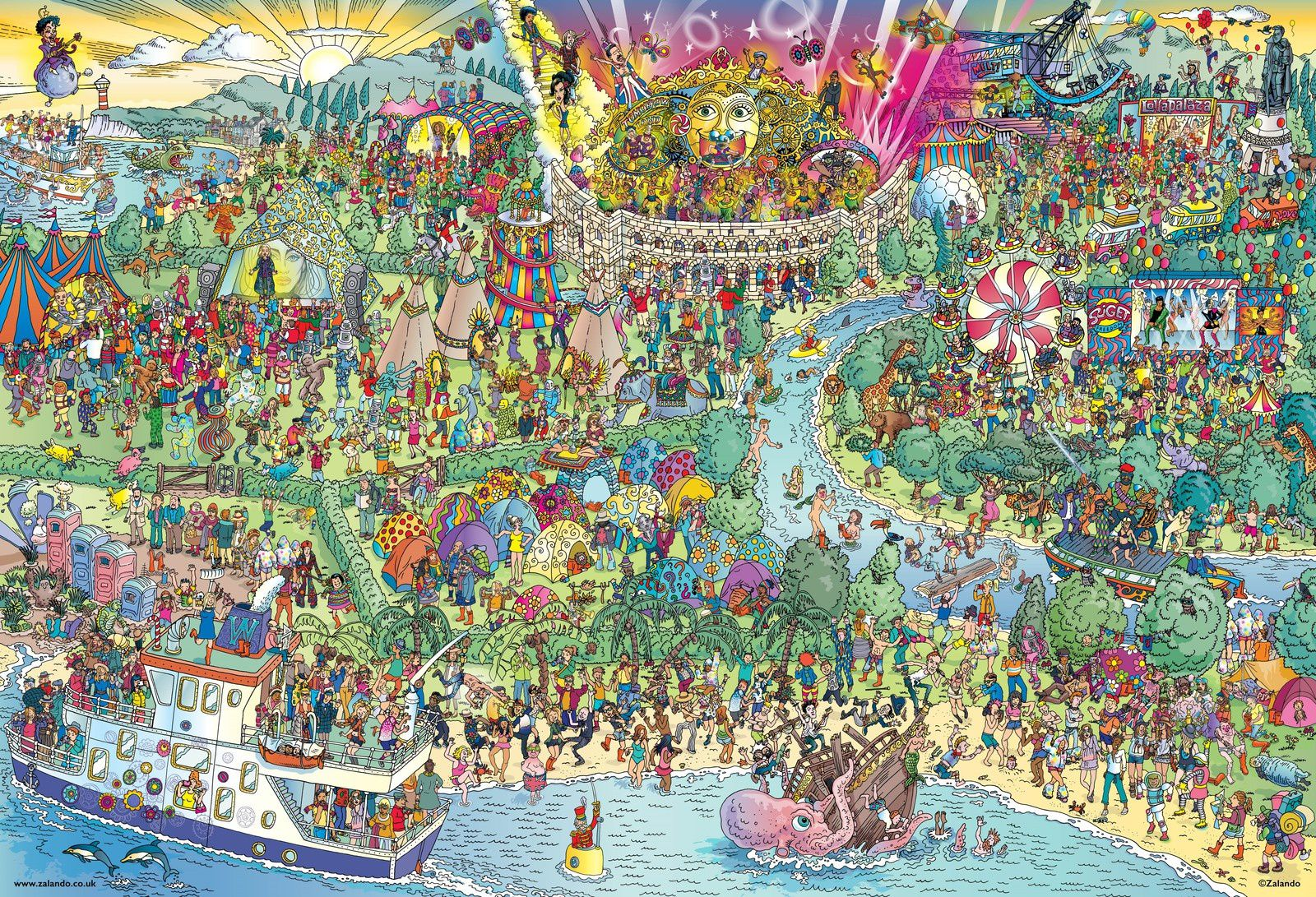 Daft Punk have been given the 'Where's Wally?' treatment