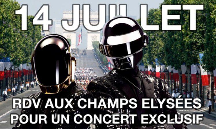 Daft Punk Alive 2017 pour le défilé du 14 juillet ?