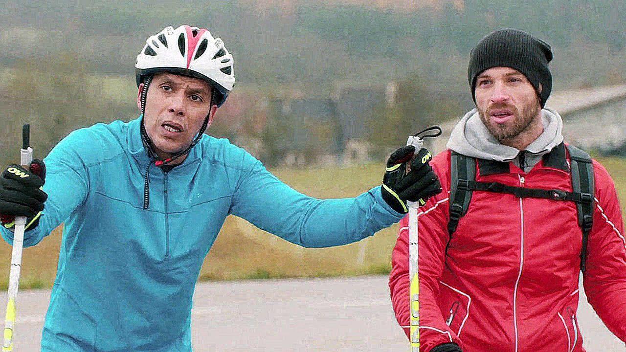 (Sami Bouajila et Franck Gastambide dans Good luck Algéria, hors compétition à l'Alpe d'Huez)