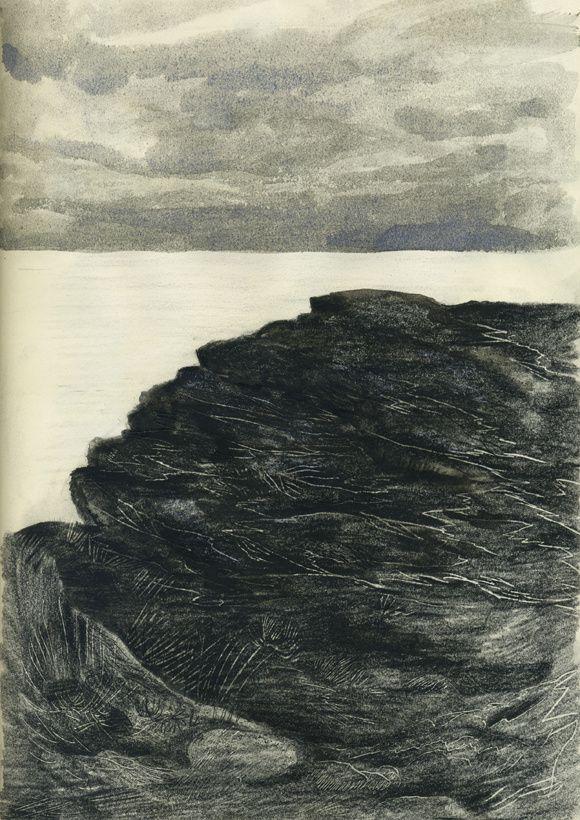 Évasions, 29,7 x 21 cm, encre sur papier, réalisés à Chausey et en Bretagne, été 2013