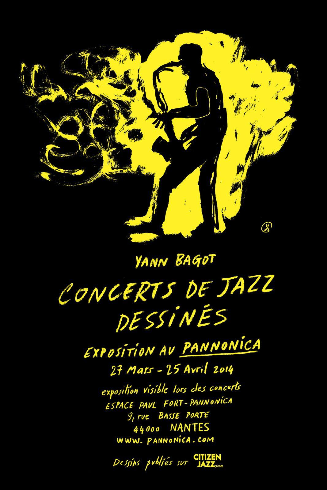 Exposition / Concerts de jazz dessinés