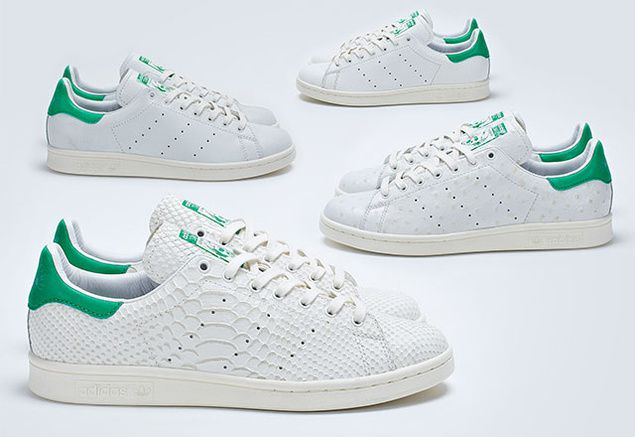 stan smith effet croco