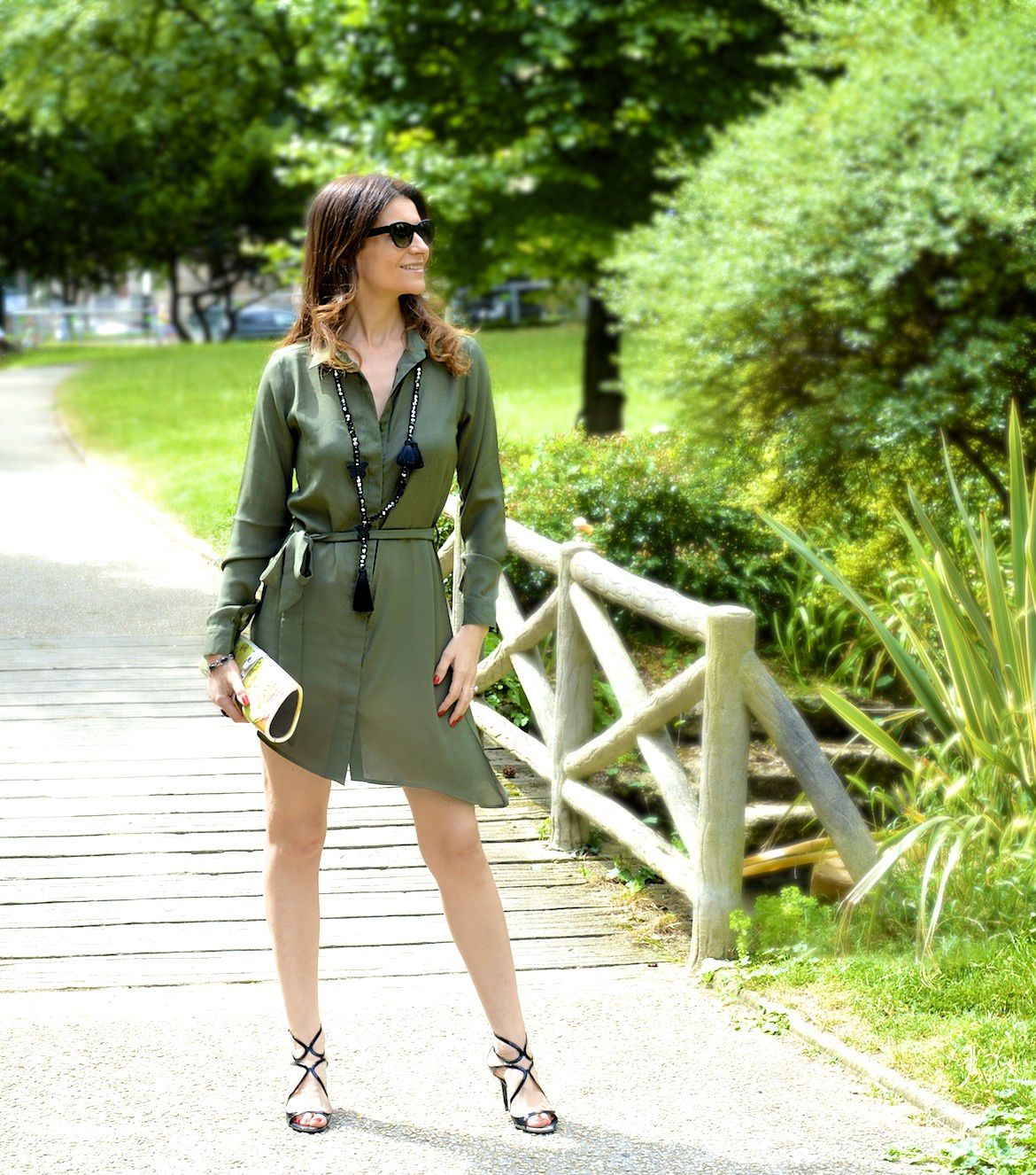 Chic khaki dress 💚