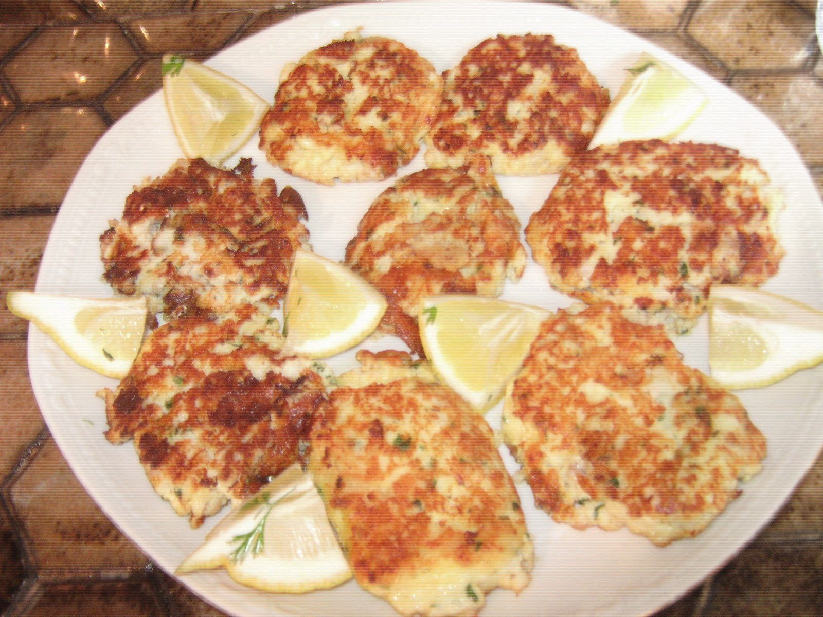 Fishcakes à la grecque (nuggets de poisson)