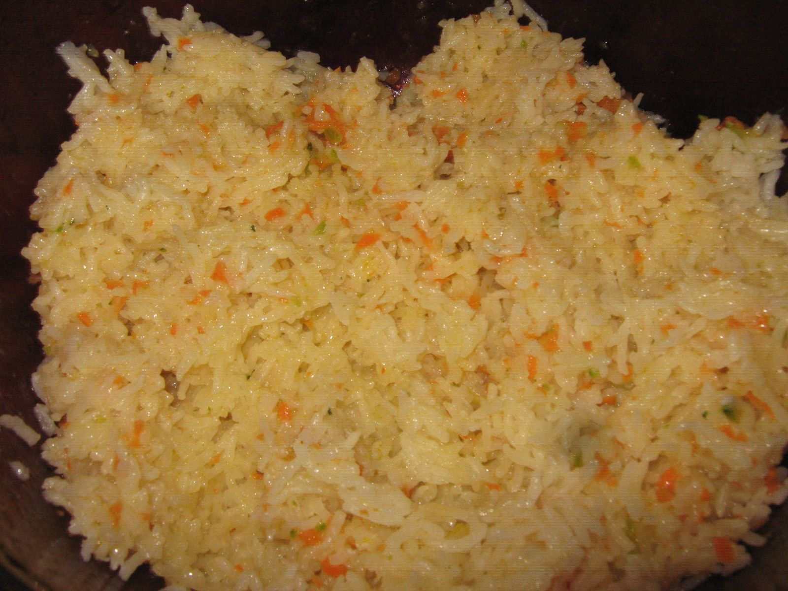 Boulettes viande/légumes/chèvre&#x3B;riz aux petits légumes et sauce aux 3 fromages