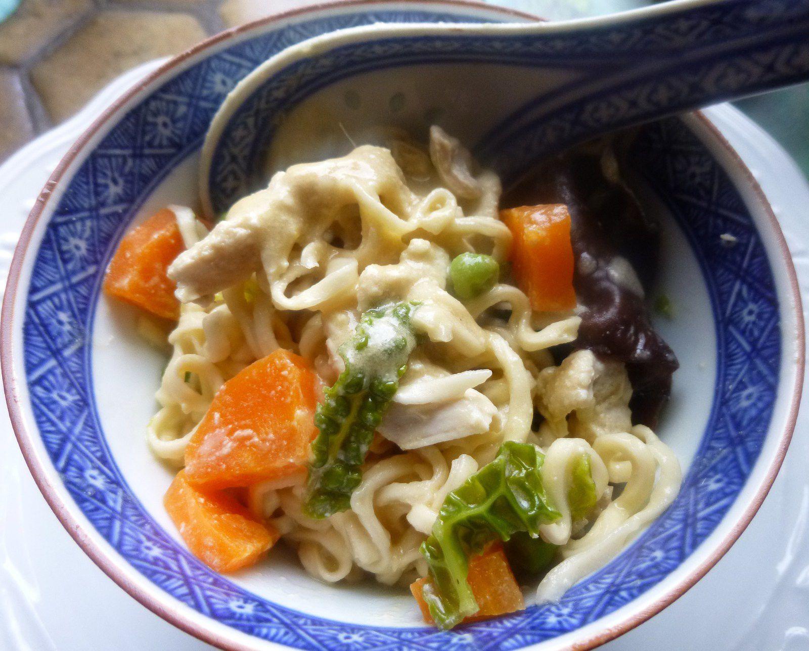 Repas complet aux saveurs asiatiques