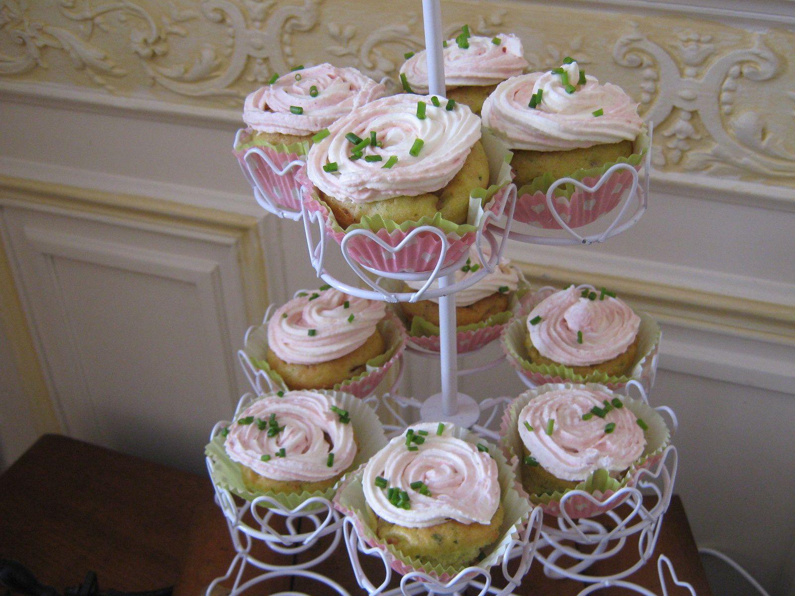 cupcakes salés &quot&#x3B;bouquet de roses&quot&#x3B;