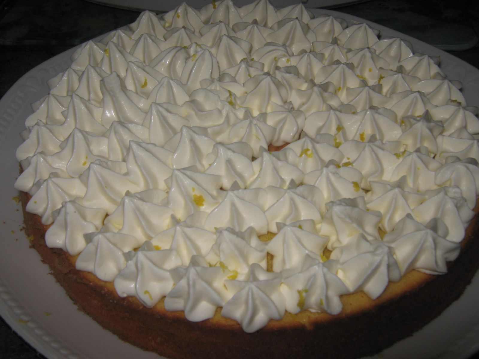G teau mo lleux au citron chantilly au citron elleisab - Decoration gateau avec creme chantilly ...