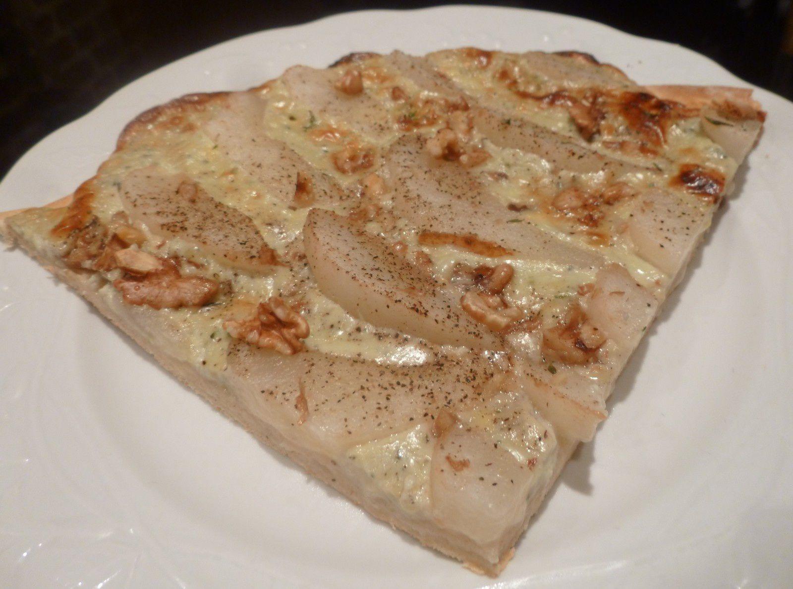 tarte rustique poires/fourme d'Ambert/miel et noix