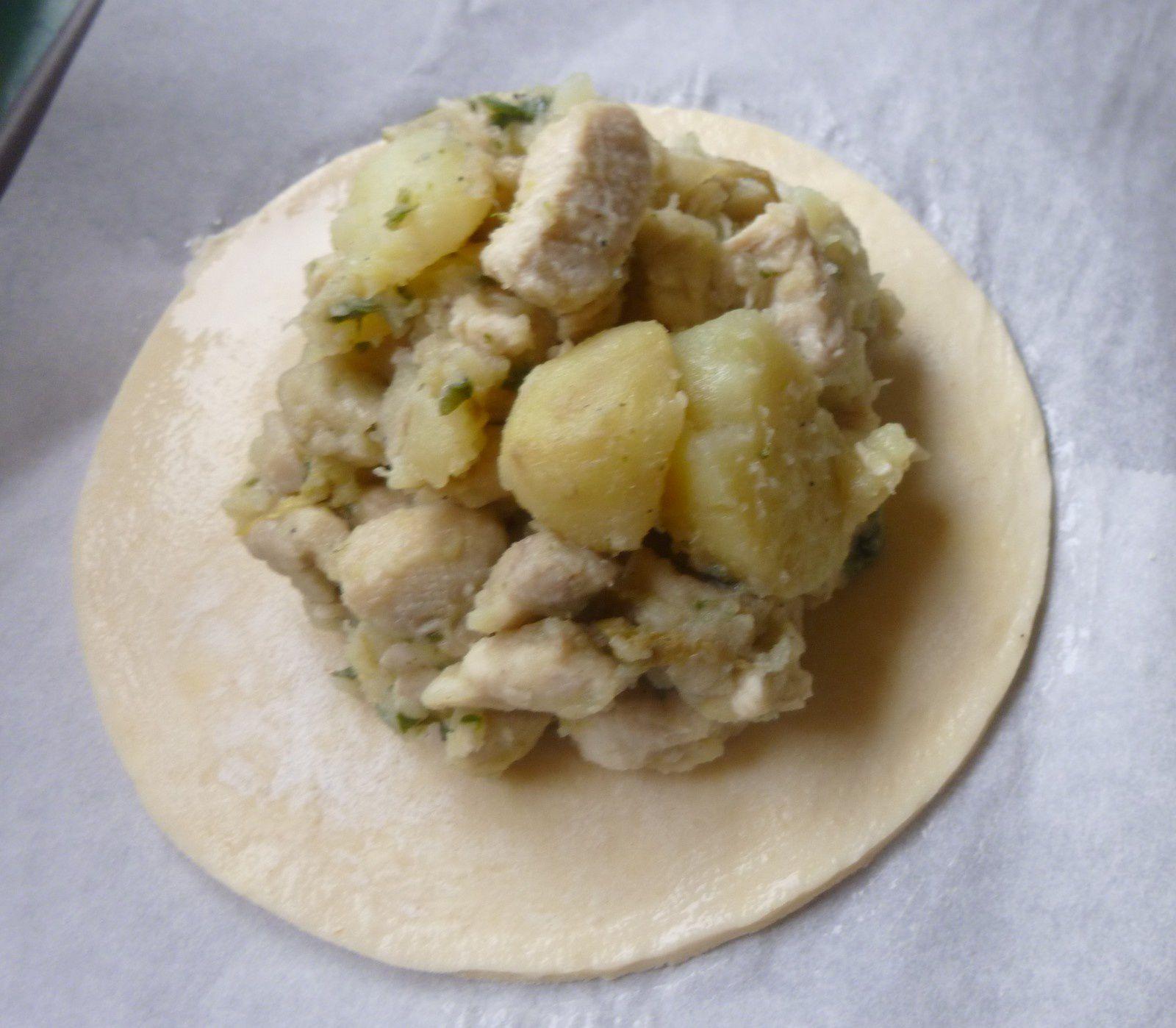 galette poulet endive champignon pomme-de-terre