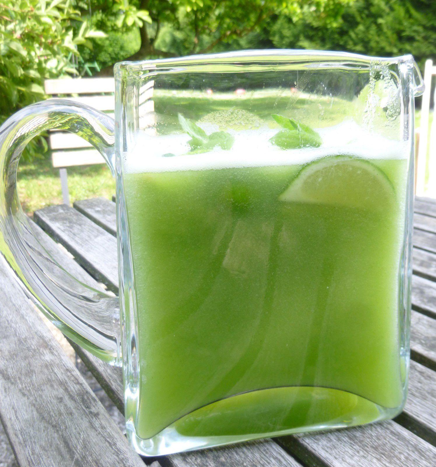 coktail concombre,menthe,citron vert