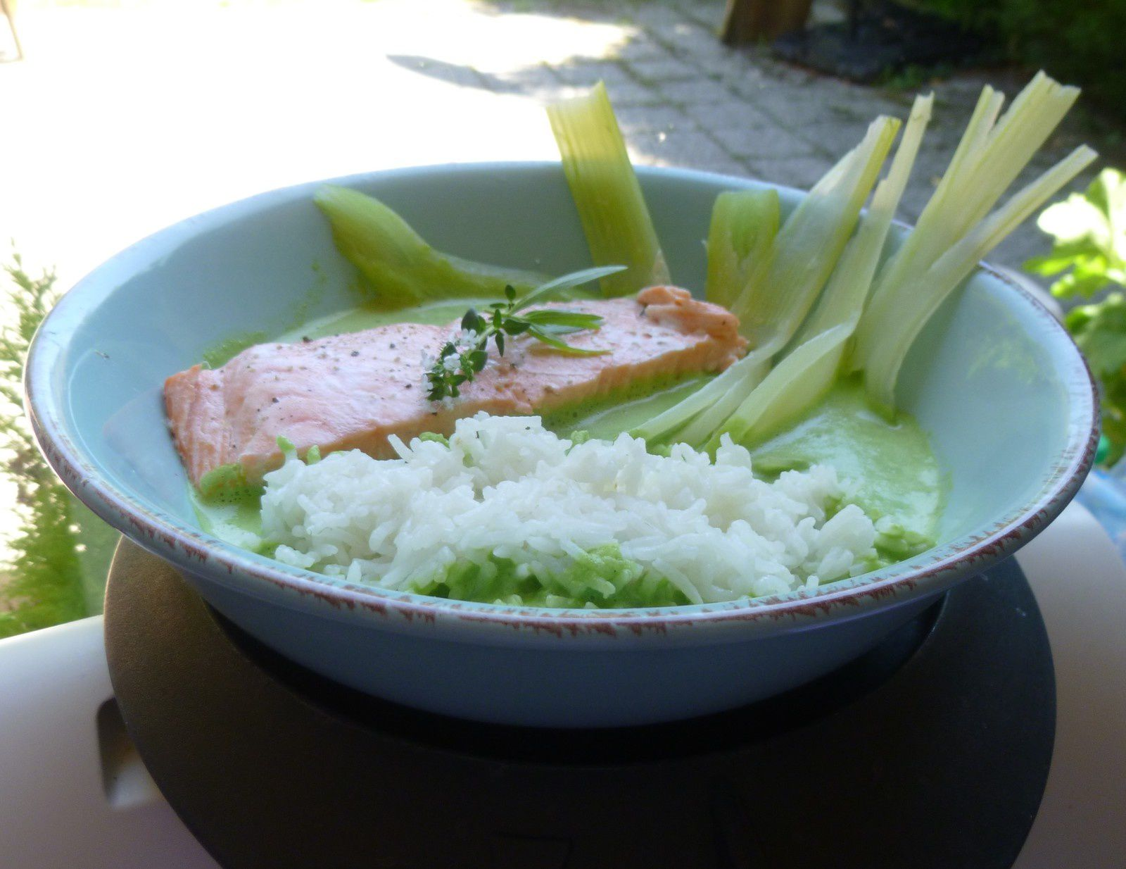 pav s de saumon riz fenouil sauce fanes de radis elleisab le blog d 39 une momoflingu e. Black Bedroom Furniture Sets. Home Design Ideas