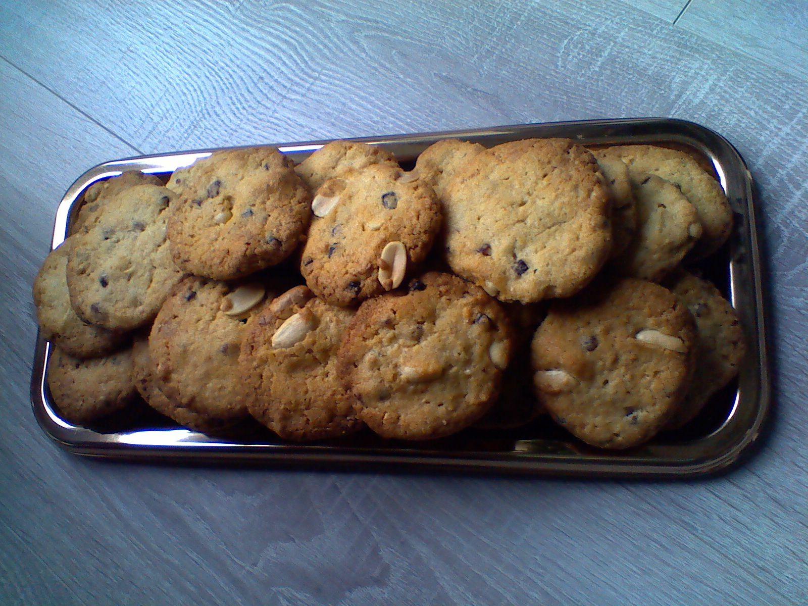 cookies pralines roses,chocolat blanc et pistaches