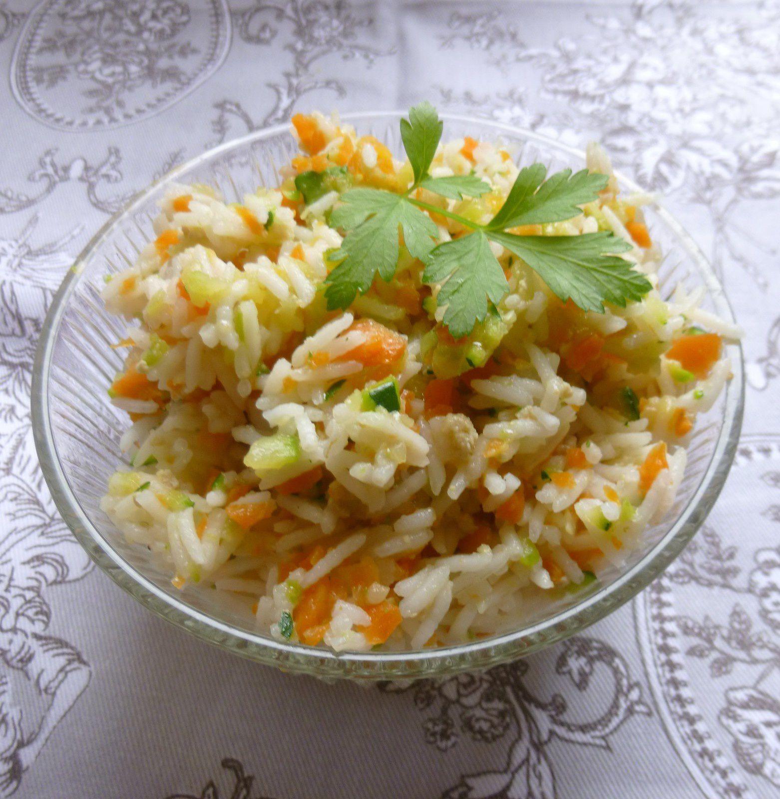 riz aux légumes vite fait!