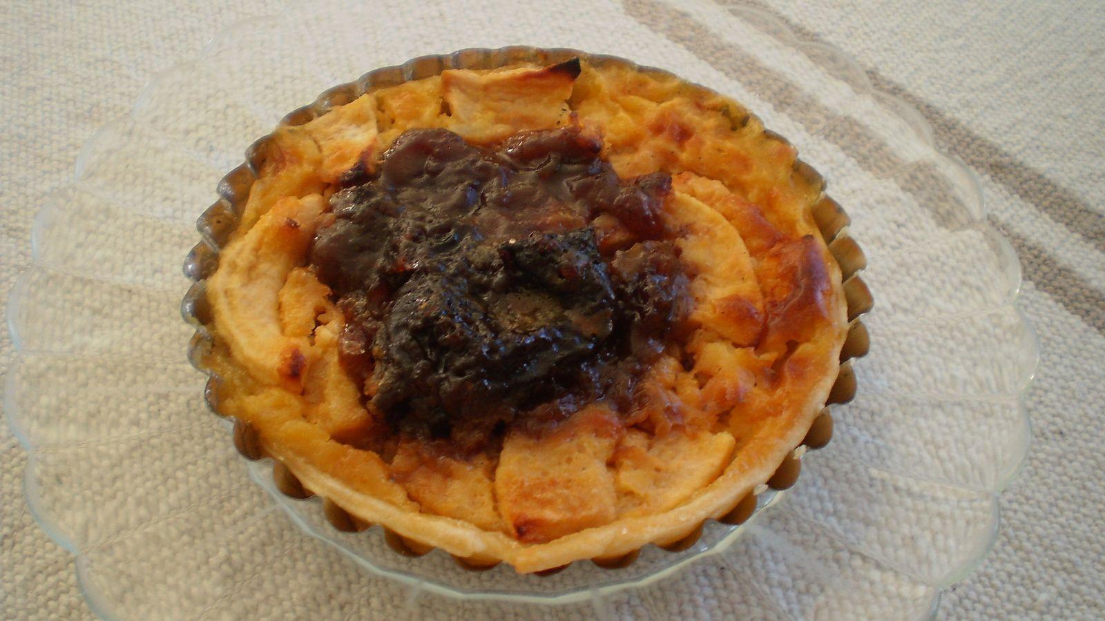 tartelettes pommes/pruneaux à l'armagnac