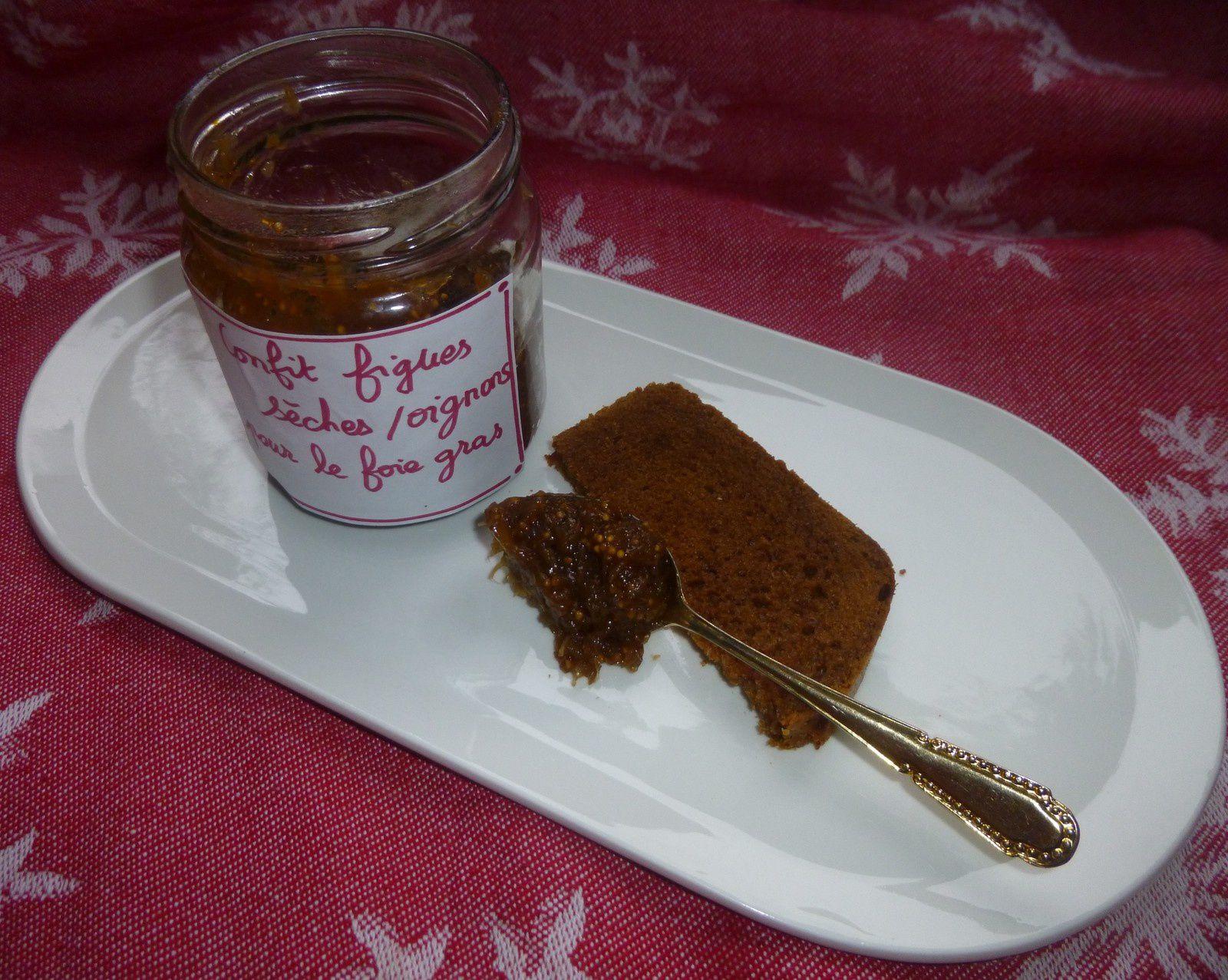 confit de figues sèches/oignons pour accompagner le foie gras