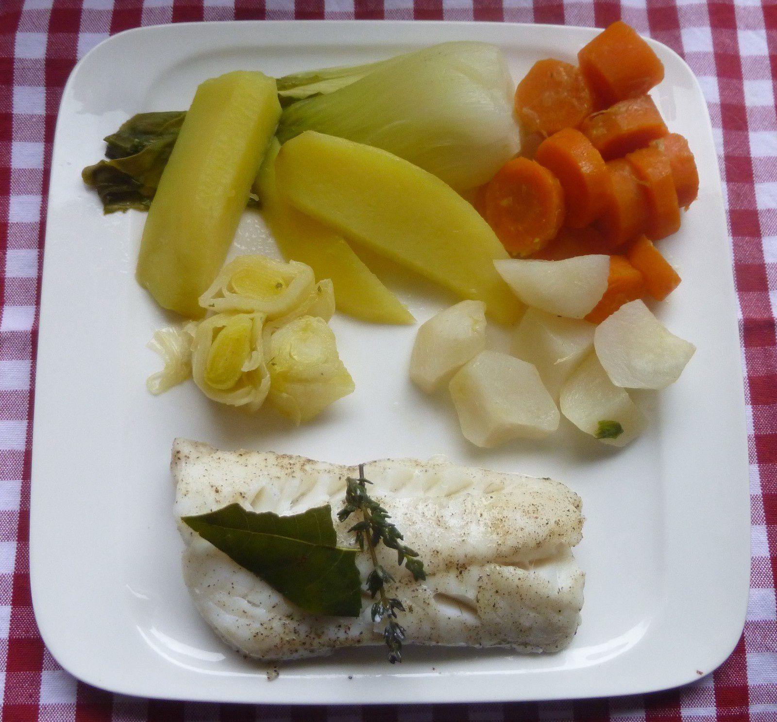 poisson vapeur sauce aux légumes
