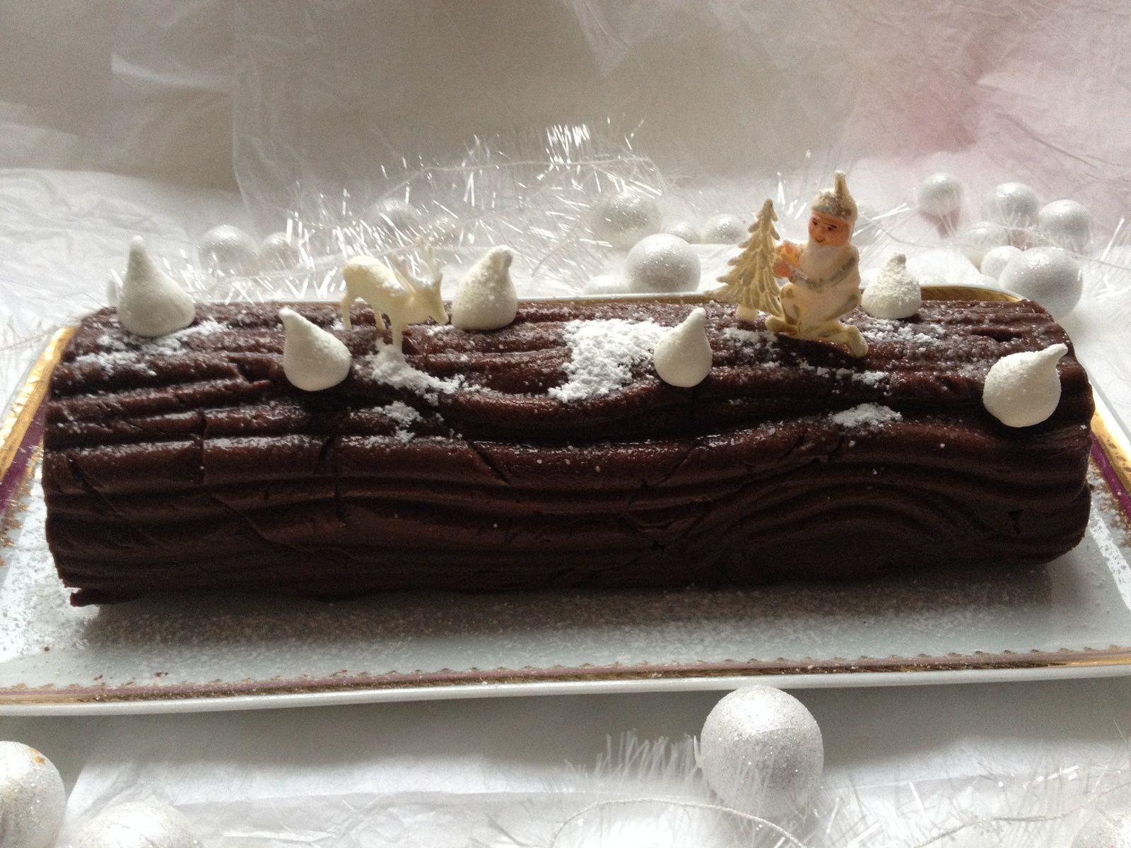 bûche chocolat/marron de ma maman