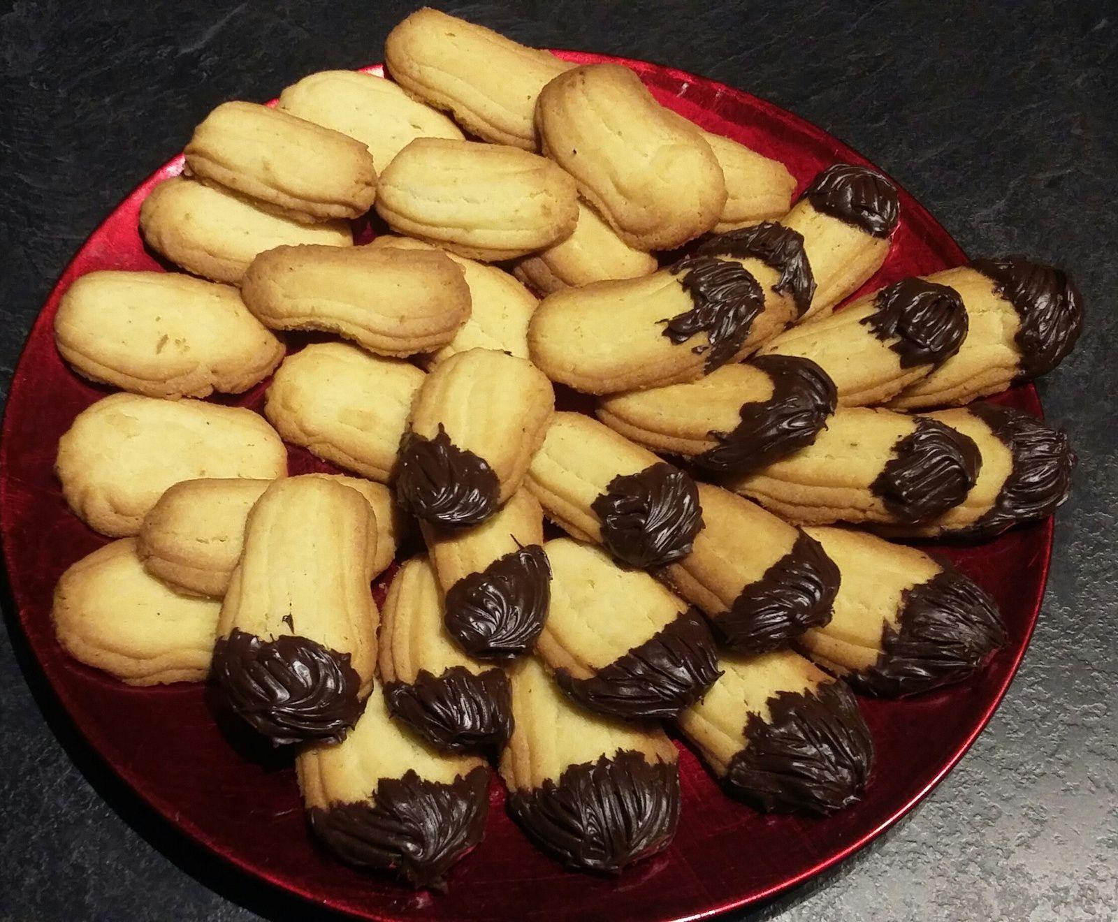 sablés vanille (et chocolat) pour utiliser les blancs d'oeufs