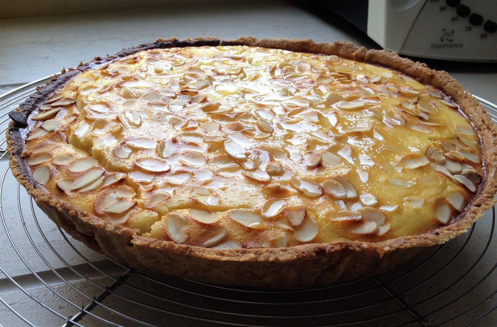 tarte à la ricotta,citron et miel