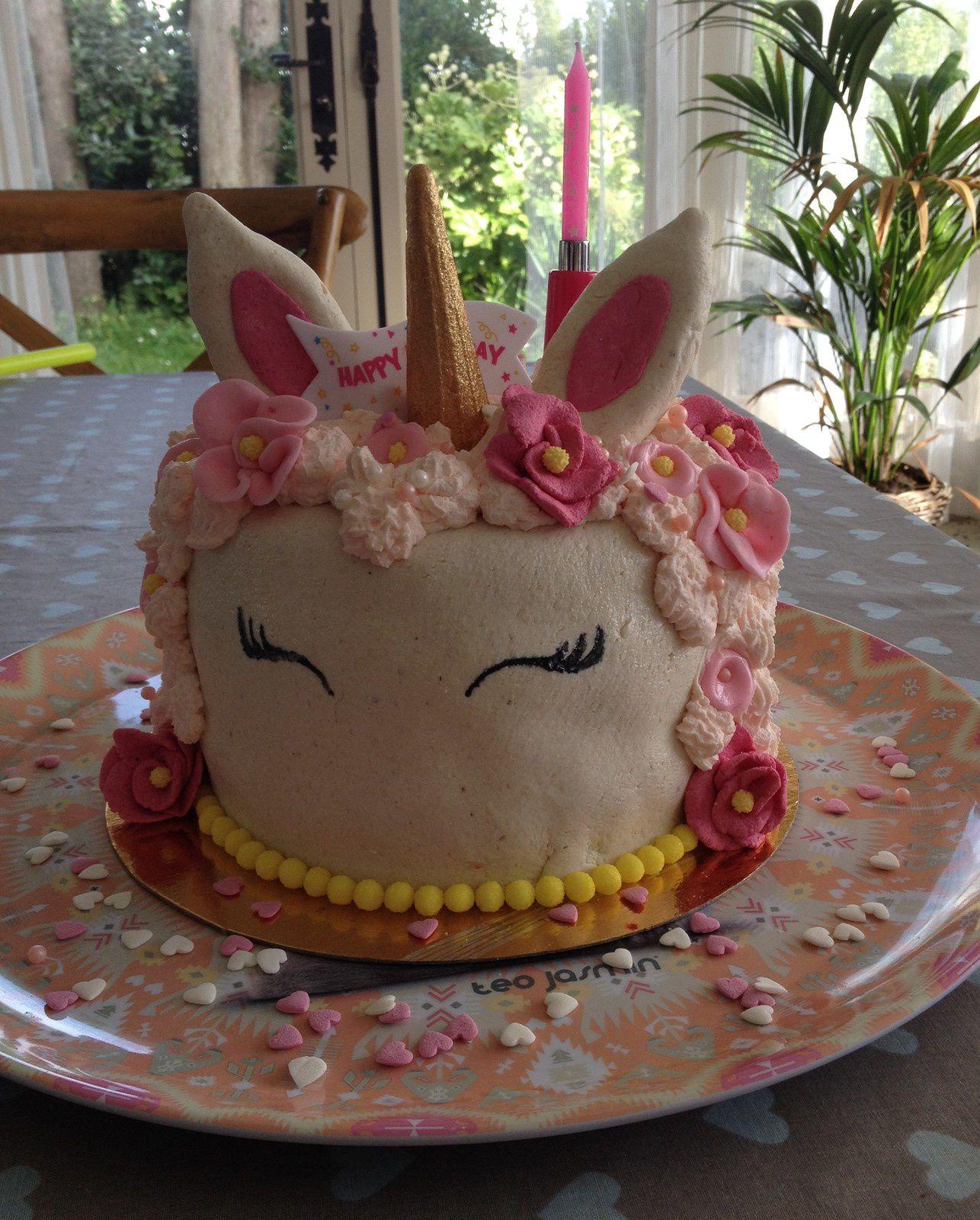 Gâteau Licorne Pour Les 20 Ans De Ma Cléo Génoisecrème Mascarpone