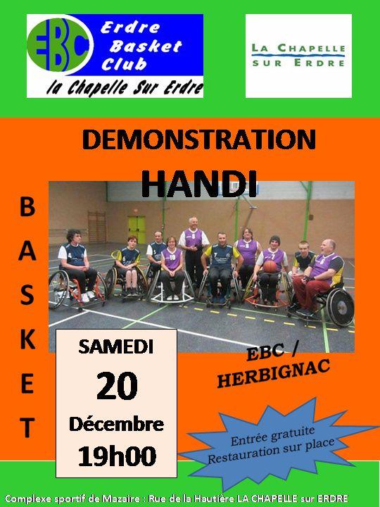Démonstration Handi Basket EBC vs Herbignac