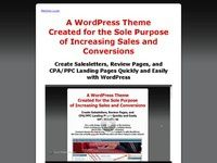 Wordpress Sales Page Salesletter Landing Page Theme Banners - Sales page template wordpress