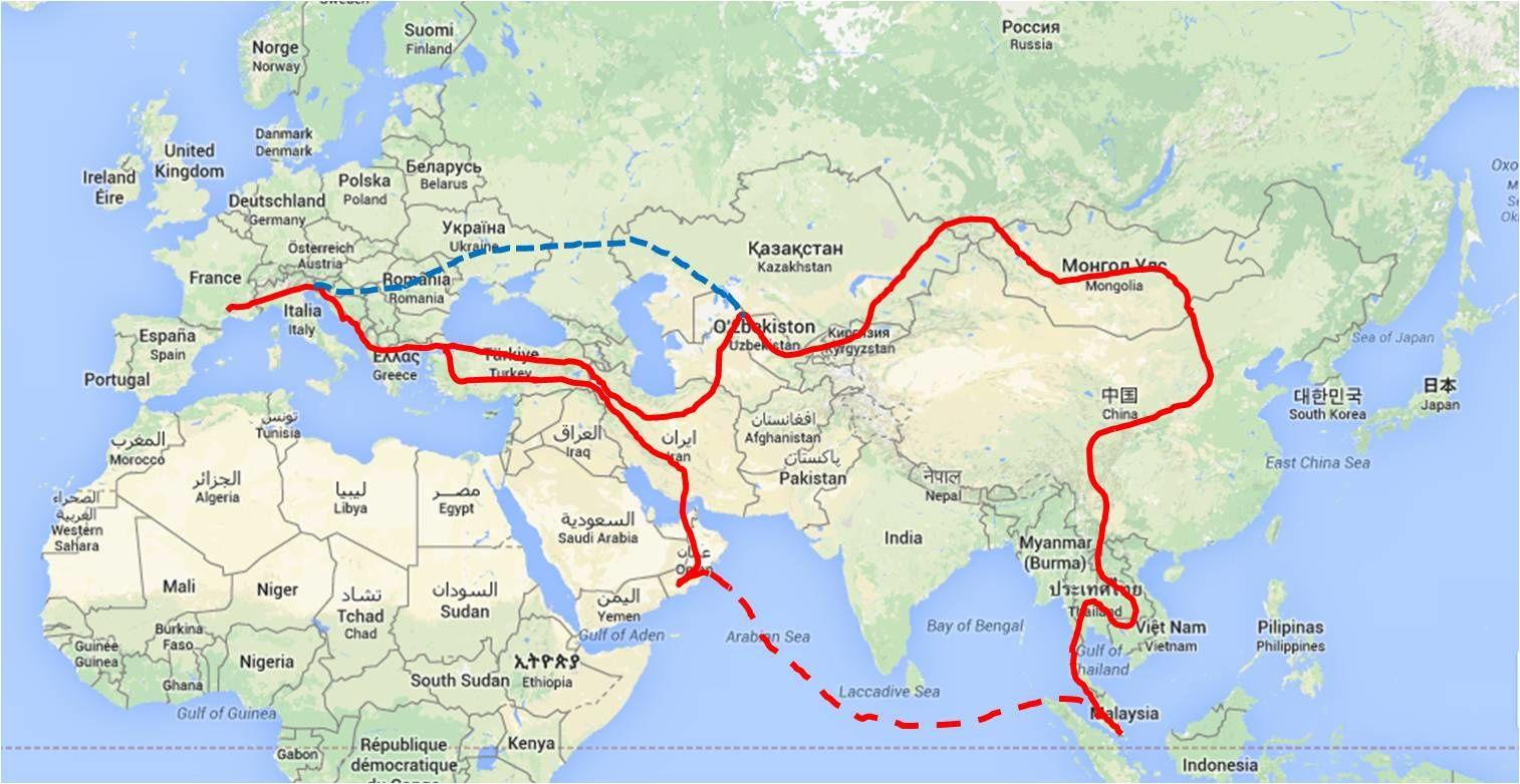 itinéraire prévu - septembre 2014