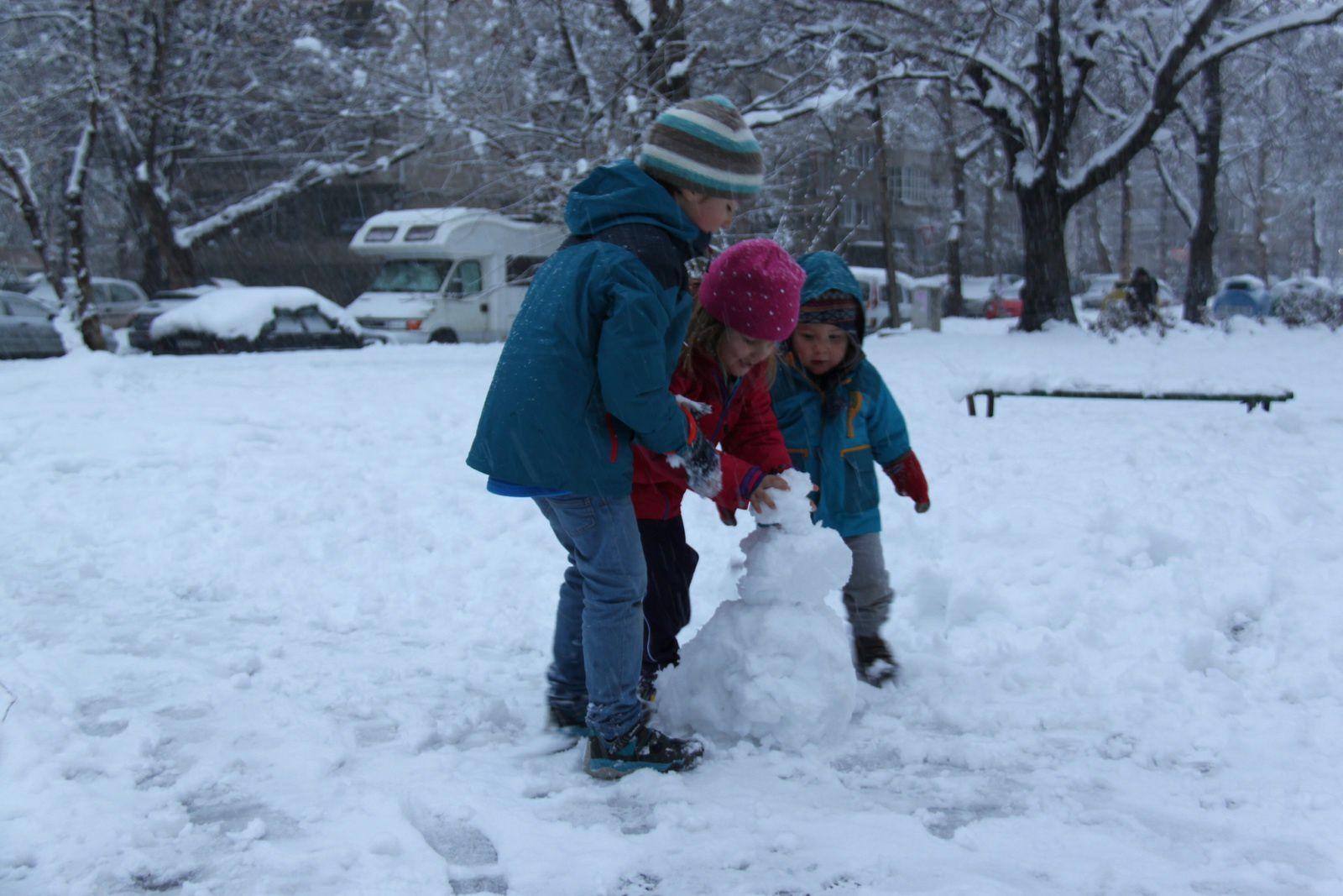 A Sofia sous la neige