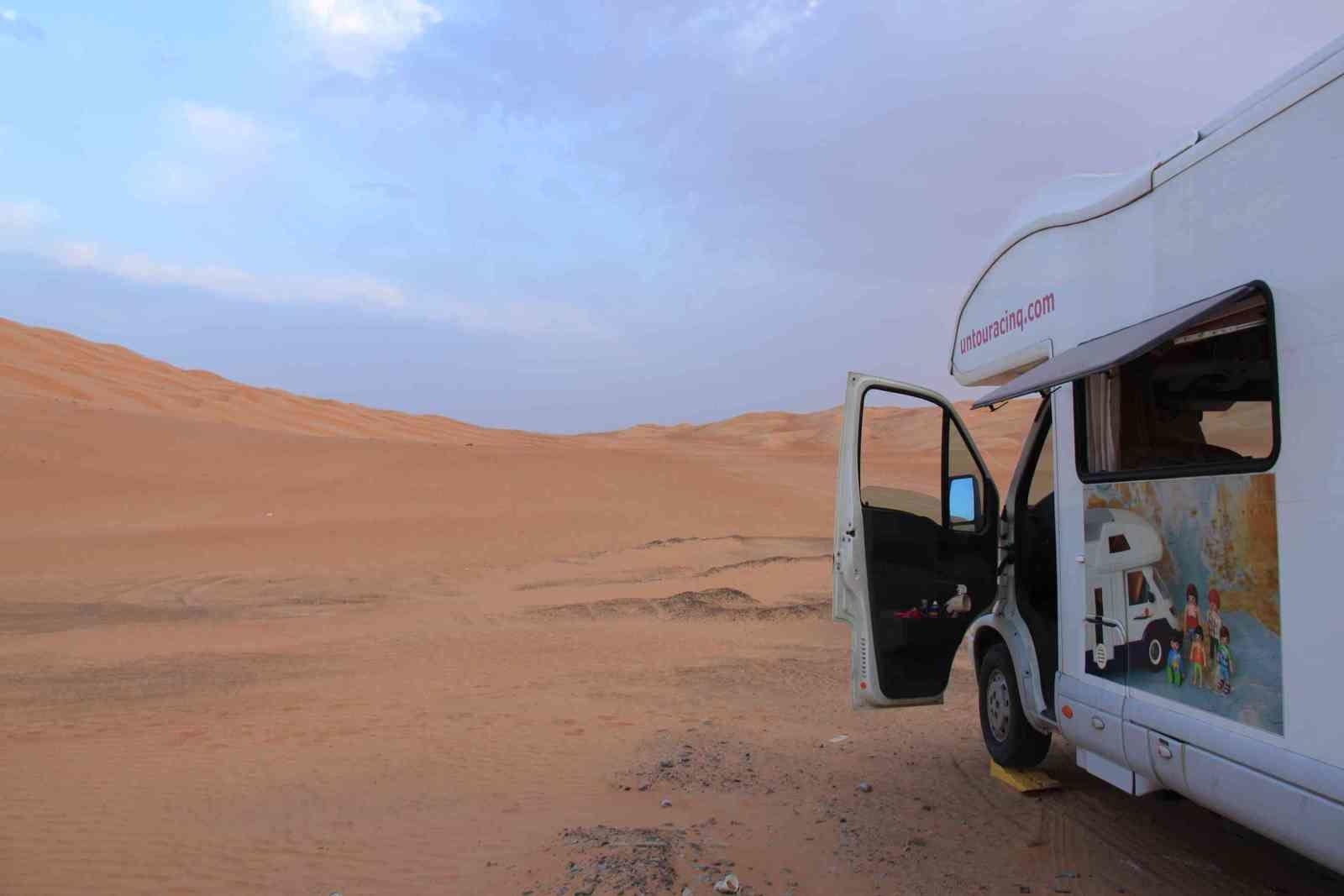 Petit déjeuner dans le désert