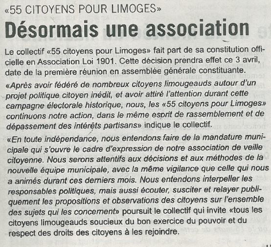 Et maintenant, l'association !