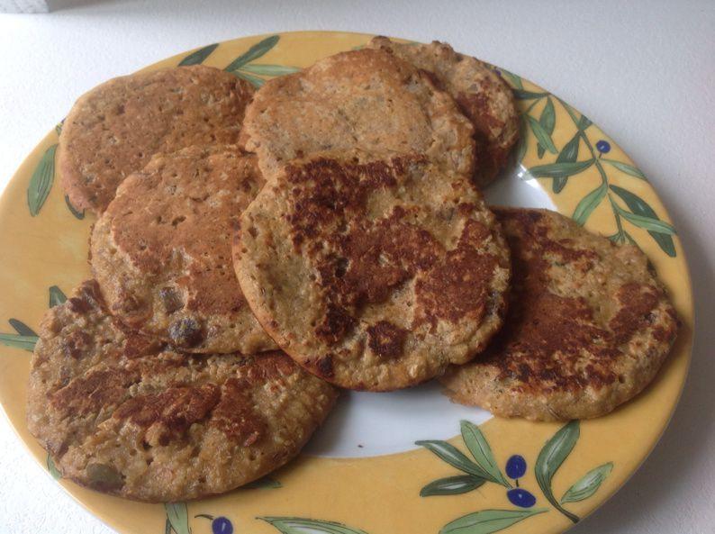 Pancakes au muesli sans gluten et sans lait