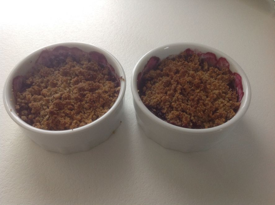 crumble aux fruits rouges sans gluten sans lactose