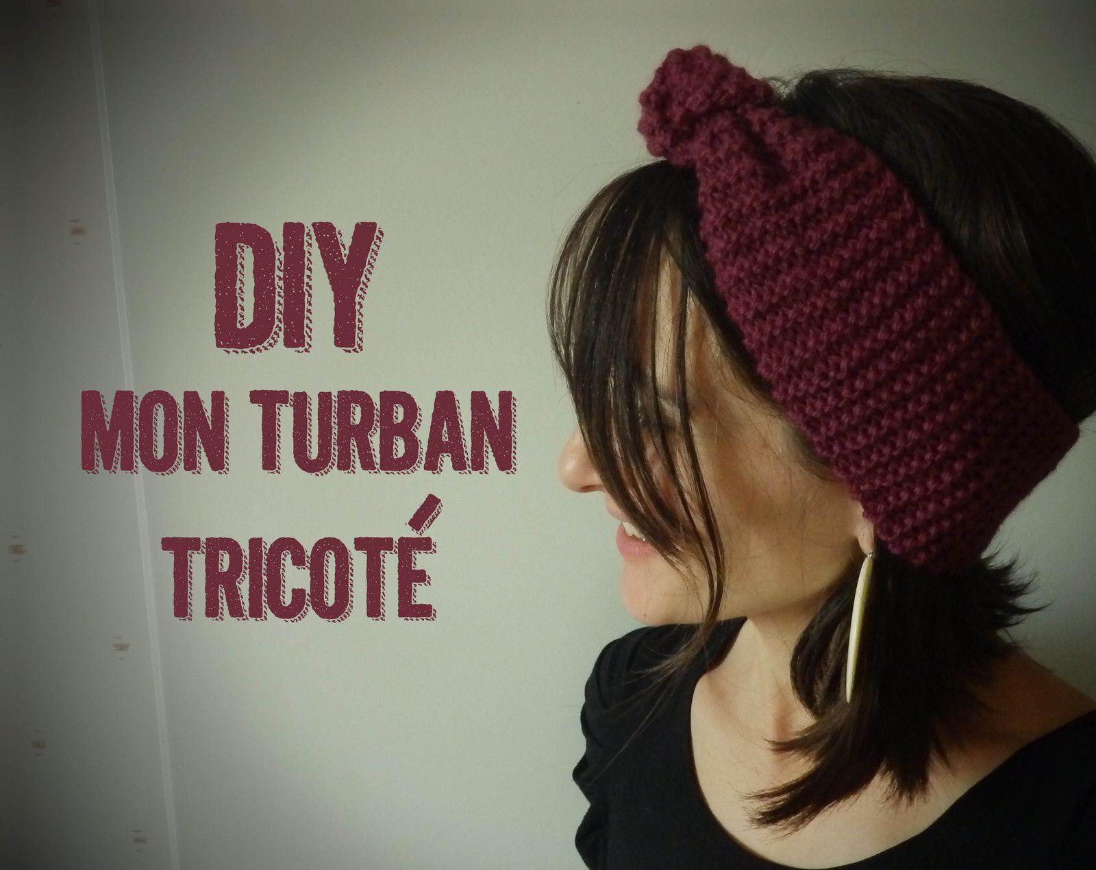 Diy: turban tricoté pour débutante