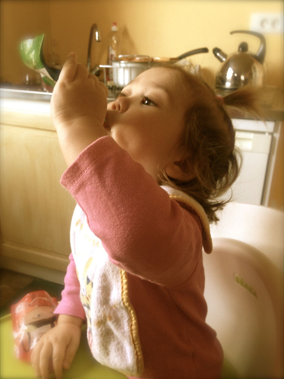 2. Manger sa pom'pote toute seule