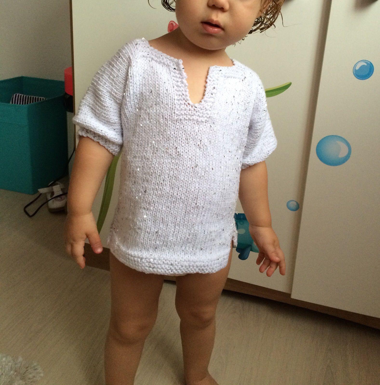 Avoir un beau pull à paillettes tricoté par Maminette