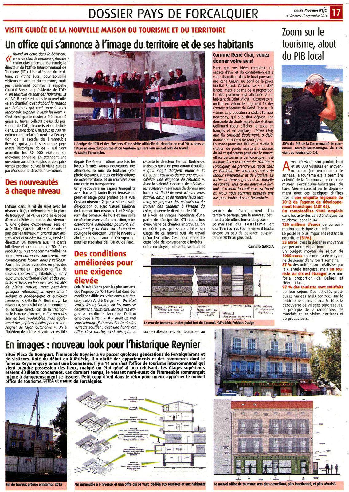 Article de presse sur le Cluster touristique de Forcalquier - Montagne de Lure