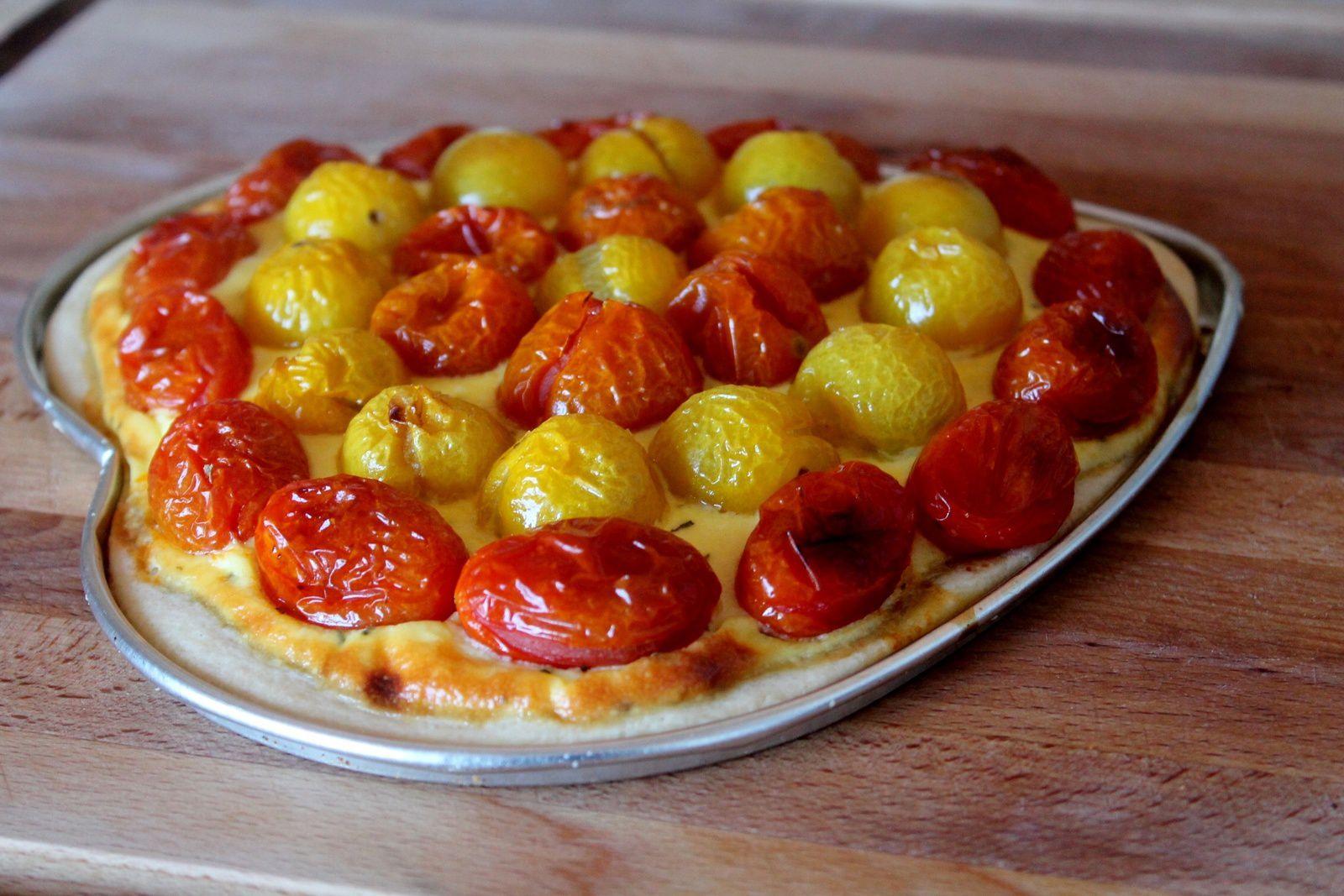 pastís de tomàquet cherry (tarte fine tomates cerise)