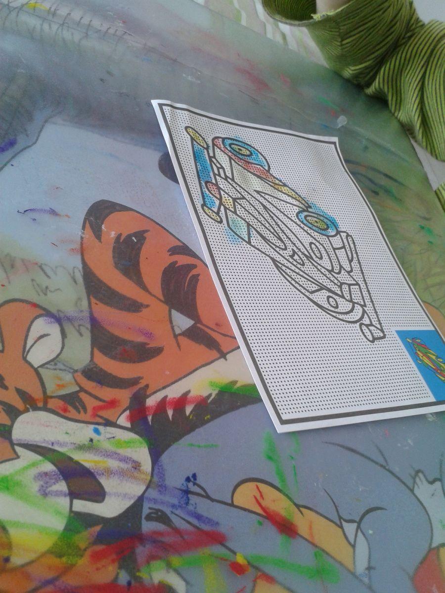 peinture magique à l'eau