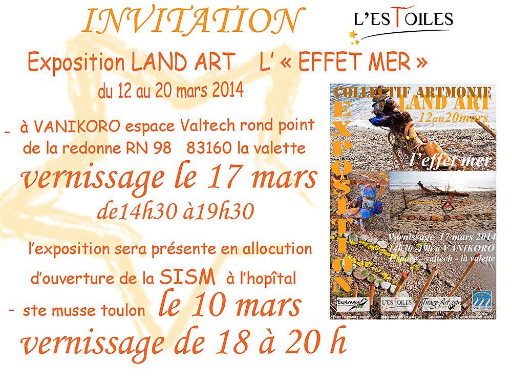 Invitation Collectif &quot&#x3B;ARTMONIE&quot&#x3B;