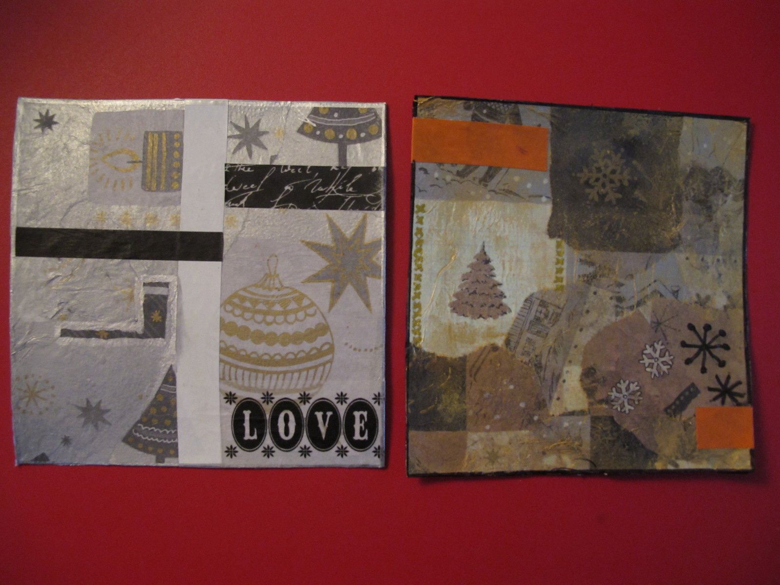 Collage mixed-media, cartes