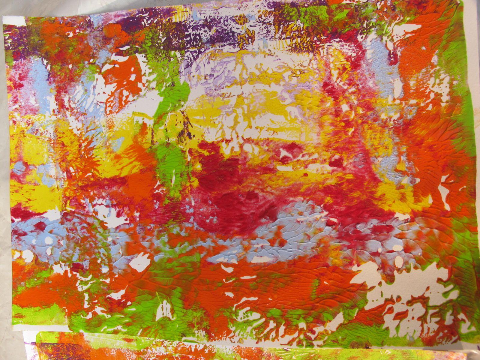 Impressions gelli : cours par Carolyn Dube