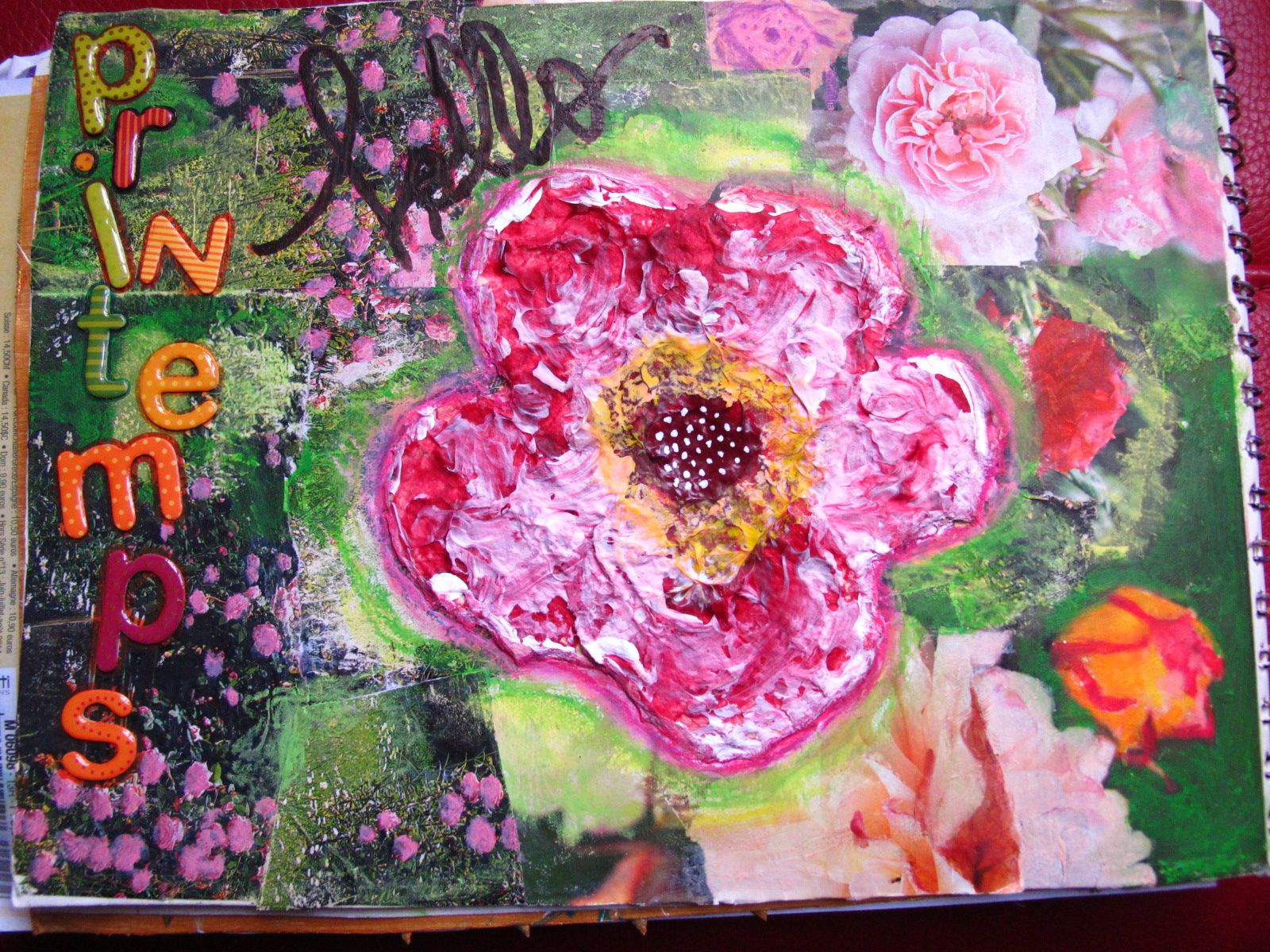 Art journal : Hello le Printemps