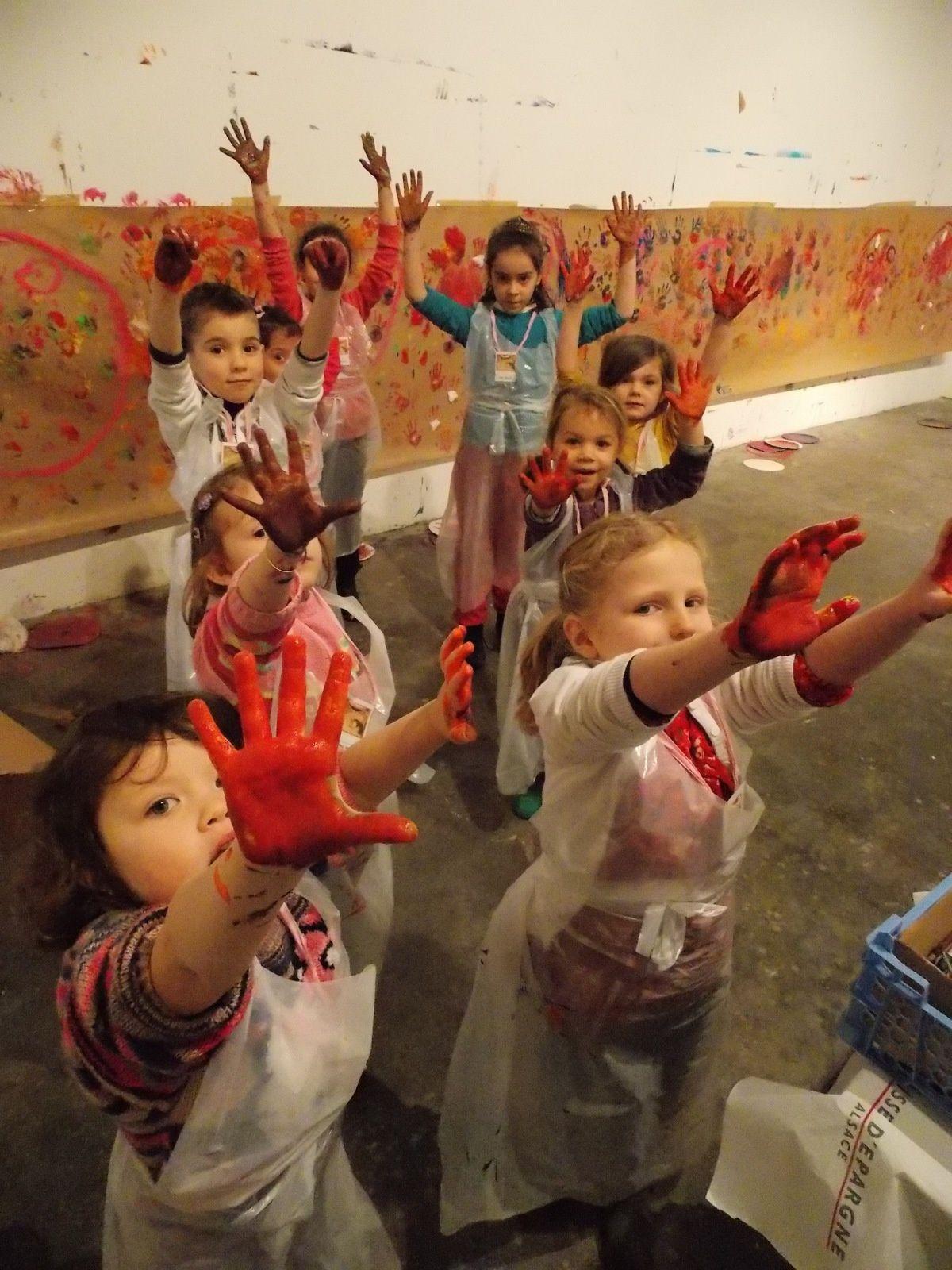 Atelier Fondation Fernet-Branca visite de l'école maternelle de Sausheim Nord 50 élèves