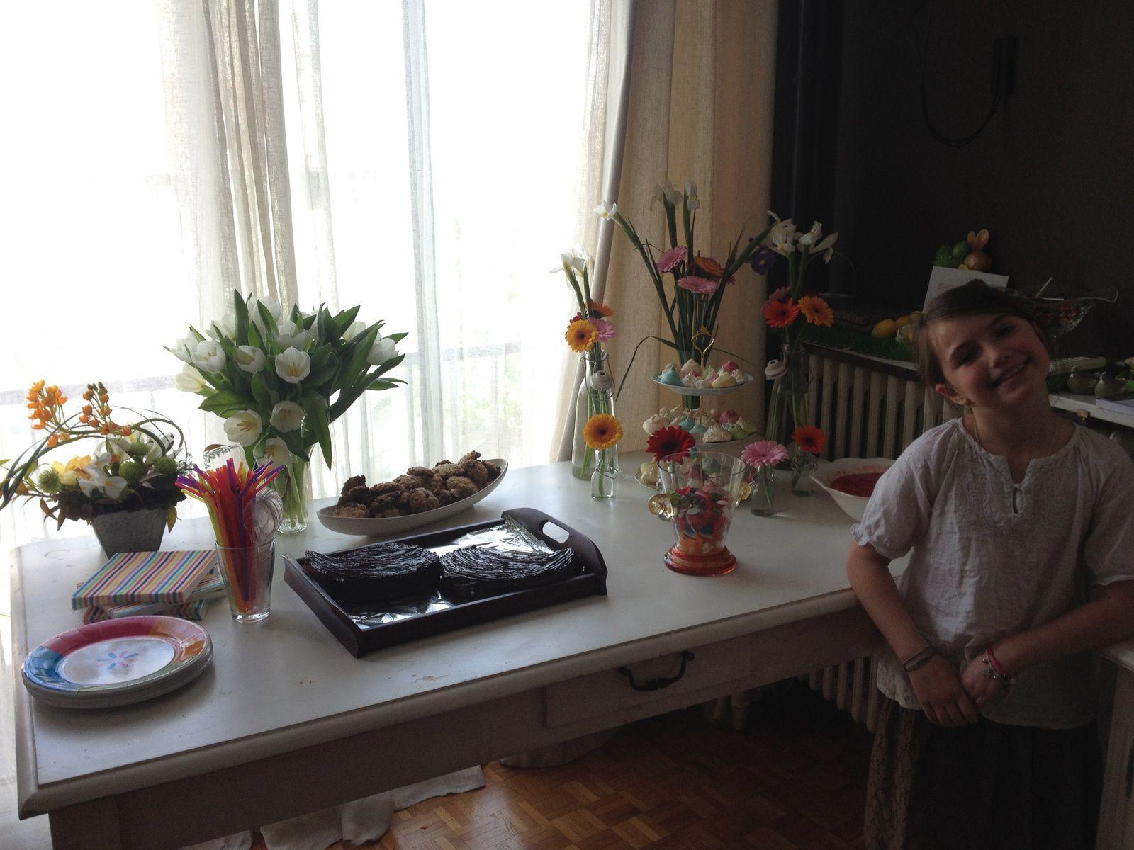 Pour les 9 ans de Chloé, ma fée, rainbow cake et meringues